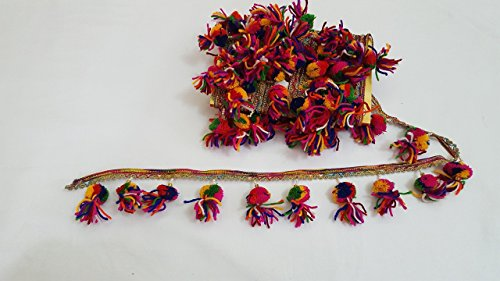 rainbow-tassel-pom-pom-trim-handcrafted-fringe-fabric-lace-sewing-border-trim-new-for-craft-1-meter