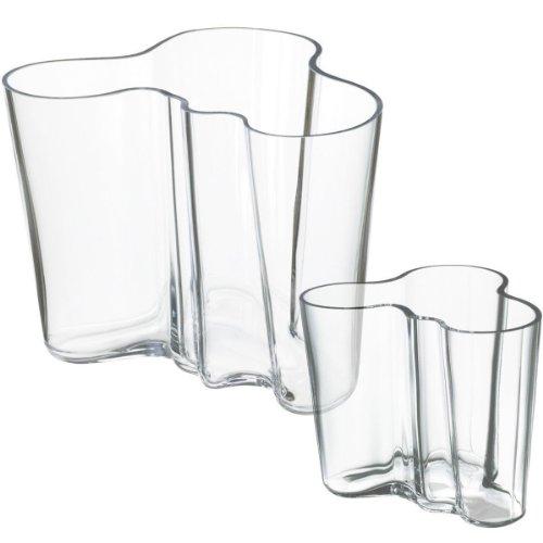 Iittala 950516 Aalto Vase Set 160 mm, 95 mm klar