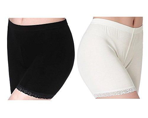 Damen Hose Unter Rock Shorts Kurz Leggings Mit Spitze - Sommer Sports Trousers