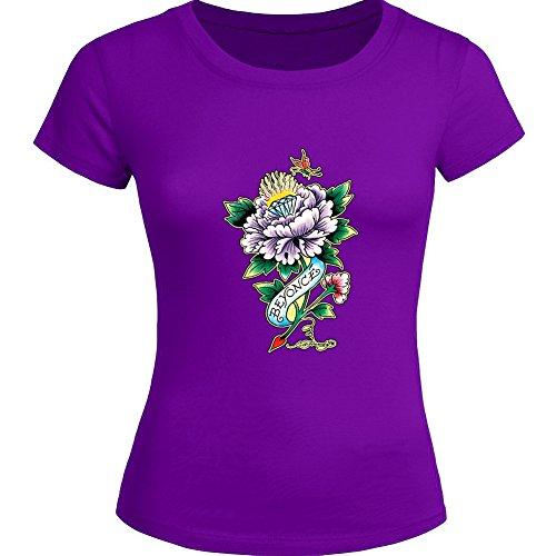 New Ed Hardy Tops T shirts -  T-shirt - Donna Purple XX-Large