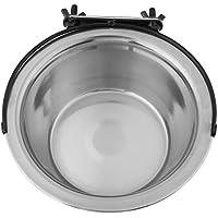 Comederos Para Gato Perro Jaulas Comederos de Acero Inoxidable Colgantes Medianos Cachorros de Mascotas Alimentación de Suministros de Agua(L)