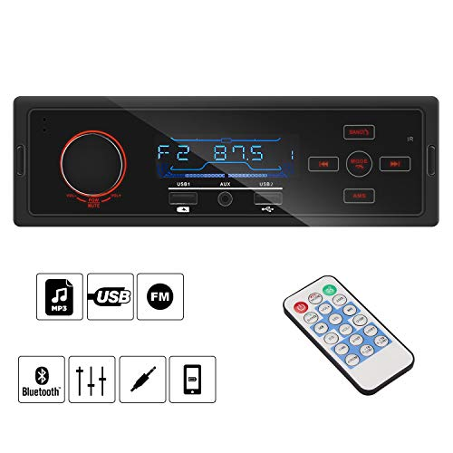 Autoradio mit Bluetooth Freisprecheinrichtung, bedee Digital Media Receiver AM/FM/AUX/TF/USB MP3 Player Kompatibel Android und IOS Handy Control, Universal für Single-Din Auto -