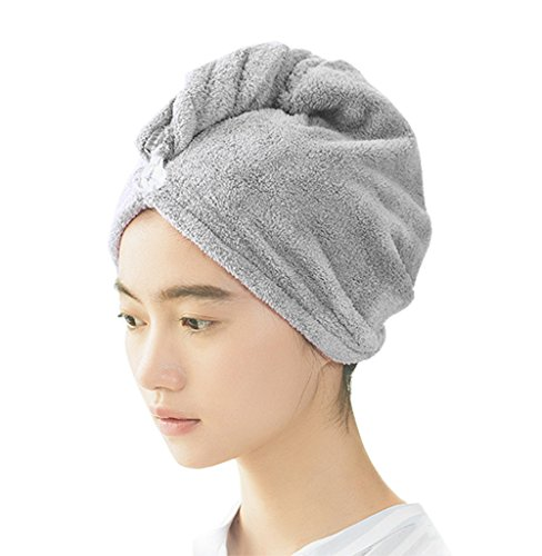 389b622fe3b DANCE YOU PRIMA Hair Drying Wrap Towel Super Absorbent Towel and  Lightweight Fast Dry Twist Head