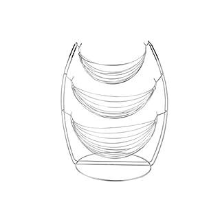 Apollo Housewares Swing Fruit Basket 3, Chrome, Silver, 48 x 33 x 48 cm