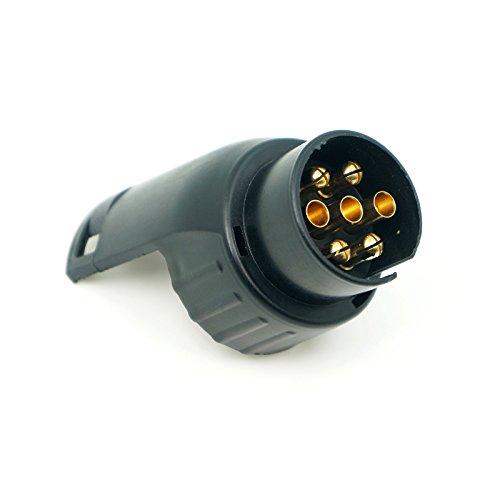 Spurtar - Adaptador de enchufe de remolque universal europeo 12 V 7...