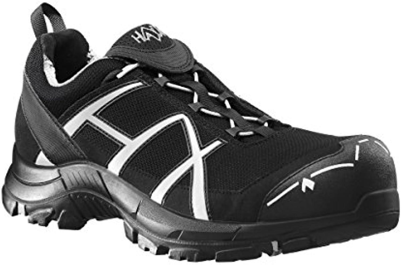 Haix – Botas de seguridad Black Eagle Safety 41 Low Black/Silver, color Negro, talla 12 - 47