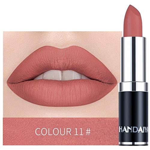 Piabigka Femmes Rouge à Lèvres Matte Maquillage Citrouille Brillant Couleur Étanche Rich Vitamine E Moisture (K)