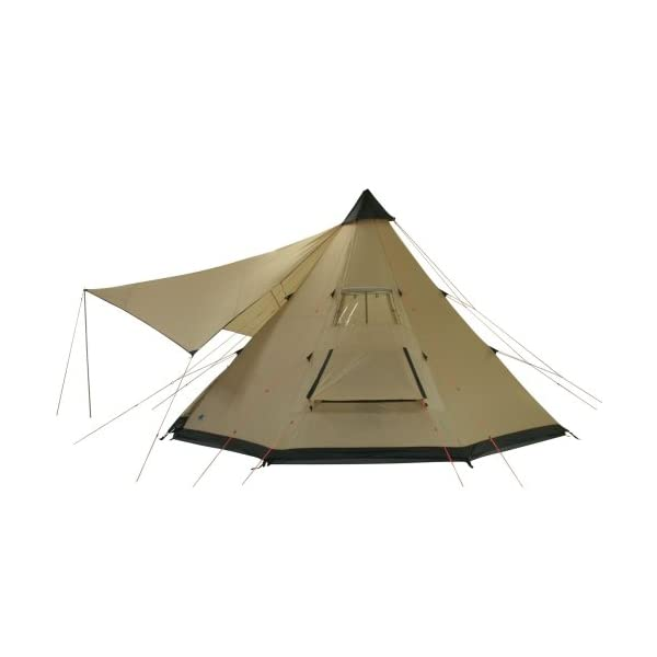 10T Outdoor Equipment Waterproof Shoshone Unisex Outdoor Teepee Tent available in Beige  - 8 Persons 5