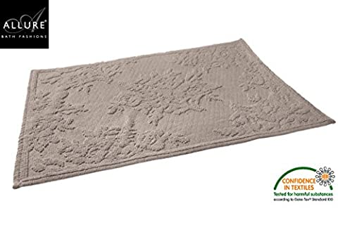 Bath Mats in Grey Allure Bath Fashions Florence Jacquard XL