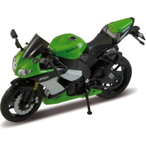 welly kawasaki ninja ZX-10R green and black bike 1.18 scale diecast model by Welly