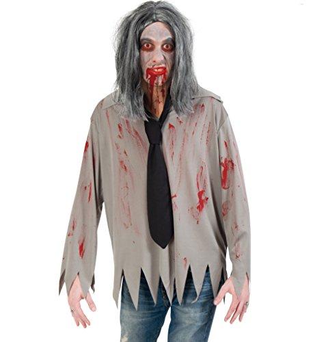 ehemd, Halloweenkostüm für Erwachsene (grau) (XXL) (Scary Halloween-kostüm Ideen Für Männer)