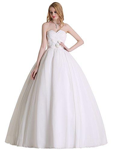Austen – 3868 Brautkleid mit Rückenschnürung Weiß Gr.46