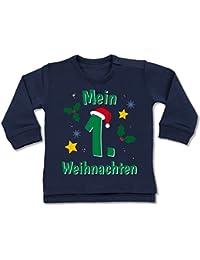 Shirtracer Weihnachten Baby - Mein 1. Weihnachten grün - Baby Pullover