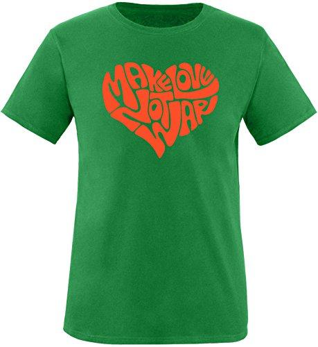 EZYshirt® Make love not war Herren Rundhals T-Shirt Grün/Orange