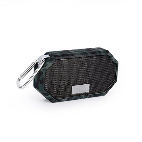 LESHP Altoparlante Bluetooth Wireless Portatile Impermeabile IP66 Speaker Premium Stereo(Nero)