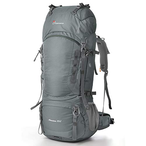 MOUNTAINTOP 70+10Liter/80L Outdoor Erwachsene Wanderrucksäcke Trekkingrucksäck Reiserucksäck mit Regenhülle*