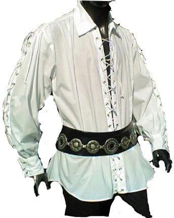 hemd Pirat Hemd geschnürt Gr. XXL 494 weiss (Piraten Tanz Kostüm)