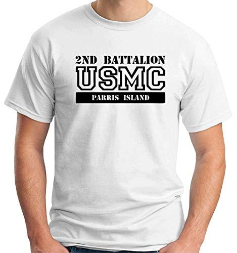 Usmc Parris Island (T-Shirt Mann Weiss OLDENG00285 USMC 2ND Battalion Parris Island)