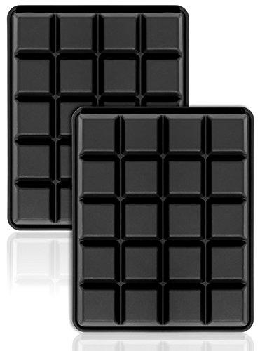 Die Whiskey Bar (40er Pack Eiswürfelformen 2,5 cm Eiswürfel Silikonformen, Whiskyquadrate, Eiswürfelbereiter, 20 pro Schale, 2er Set.)