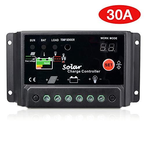 Sunix® 30A Pannello solare regolatore di carica intelligente Regolatore di carica 12V-24V