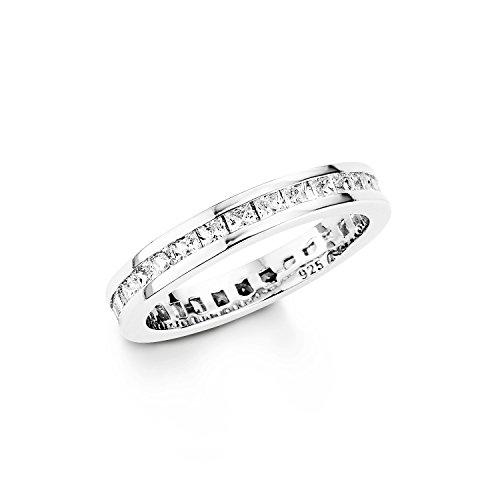 Amor Damen-Ring schmal 925 Sterling Silber rhodiniert glänzend