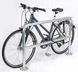 Fahrrad-Anlehnbügel, schlicht - Länge 1200 mm - verzinkt, zum Aufdübeln - Anlehnbügel Anlehnbügel für Fahrräder Einzelständer Fahrradanlehnbügel Radständer
