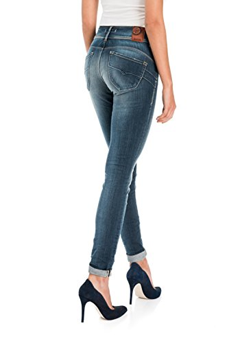 Salsa - Jeans Secret Skinny délavage premium - Femme Bleu
