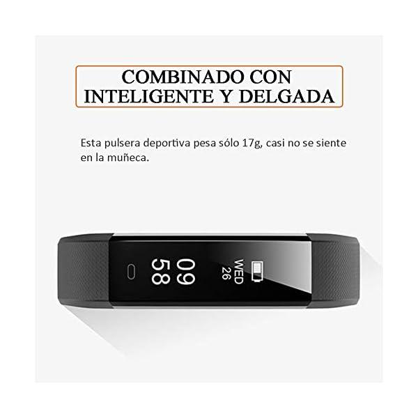 Pulsera de Actividad Inteligente, Sumergible Reloj Deportivo IP67 Smartwatches Cómodo con Pantalla Táctil Longitud… 6