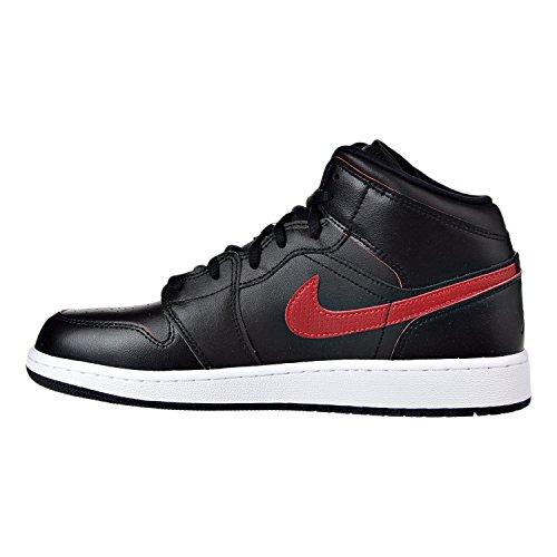Nike 554725-009, espadrilles de basket-ball garçon Black/Gym Red-White