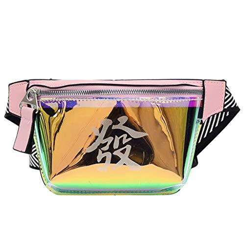 TIFIY Damen Rucksack Mode Frauen Studenten Outdoor Sports Zipper Messenger Bag Brusttasche Gürteltasche Arbeits Täglich Bankett Elegant Tasche(Pink)