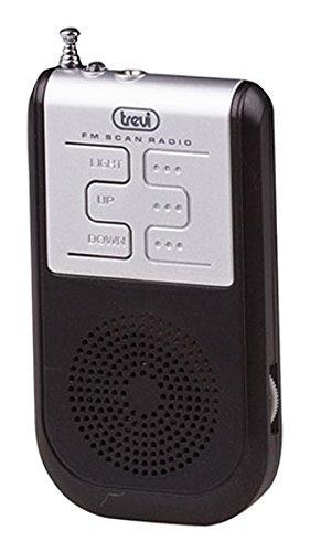 Trevi RS733compatto portatile radio FM con auricolari e mini torcia a LED
