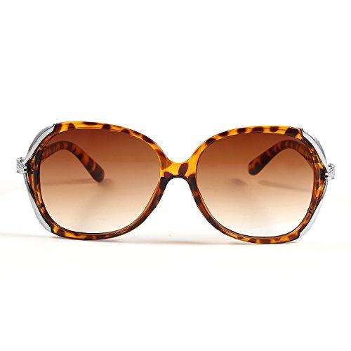 Pagacat Sonnenbrille Vintage Damen Harz Mode Brillen Casual Runde Form Sunglasses