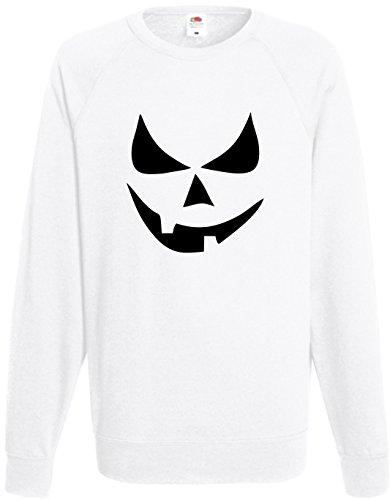 Scary Smiley, Kürbis Halloween Jumper Fancy Kleid Sweatshirt Geschenk Top S-XXL Gr. M, Schwarz - - Halloween Smiley Scary