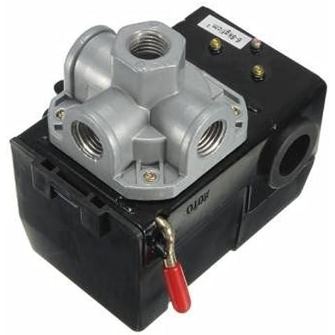 válvula de control de interruptor de presión del compresor de aire de 4 puertos 35-150psi
