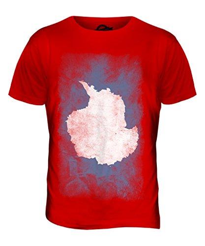 CandyMix Antarktika Verblichen Flagge Herren T Shirt Rot