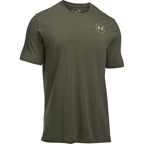 Under Armour Men's Freedom Flag T-Shirt, Marine Od Green/Desert Sand, Large -