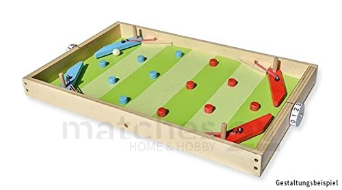 matches21 Flipper / Pinball Automat in Fußballoptik Holz Bausatz für Kinder Bastelset Werkset ab 11 Jahren