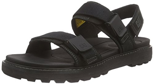 Cat Footwear Drifter, Sandales Bride Cheville Homme - Noir - Schwarz (Mens Black), 41