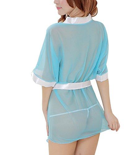 E-Girl Charming Lady Kinomo Nuisettes Lingerie, vêtements de nuit, bleu Bleu