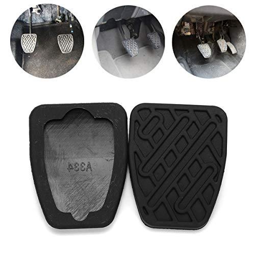 JenNiFer Pair Rubber Car Brake Clutch Pedal Cover Non-Slip Pad für Nissan Qashqai