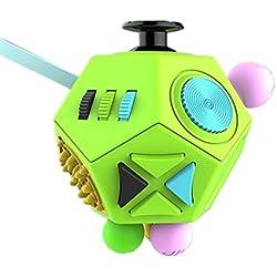 Zappeln Dodecagon 12 Side Zappeln Spielzeug Lindert Stress und Angst Anti Depression Würfel für Kinder und Erwachsene mit ADHS ADD OCD Autism