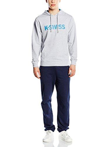 K-Swiss da uomo con cappuccio e illustrare II Tute sportive Grey