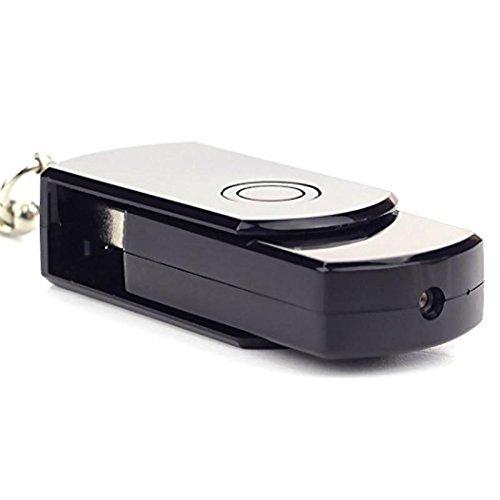 AmaxXon Mini HD versteckte USB Kamera mit Bewegungsmelder – USB Stick Überwachungkamera mit Video und Ton Aufzeichnung auf SD Karte – Minikamera Spycam