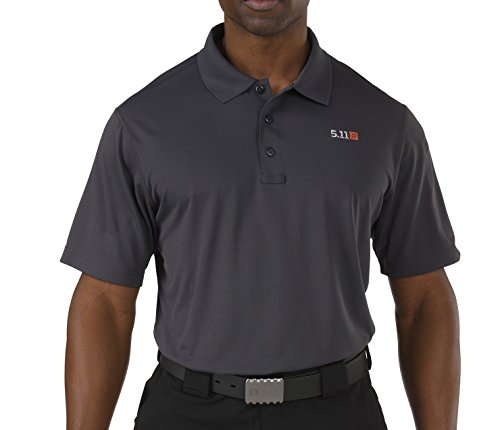 5.11 Tactical Pinnacle Polo, Uomo, Charcoal, S