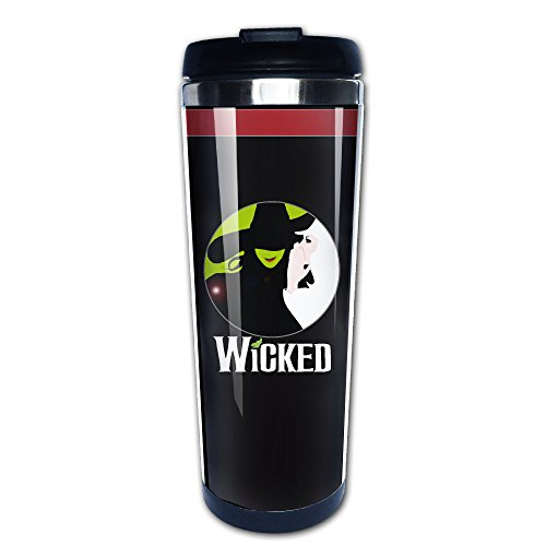 (Witchy Secrets Wicked Musical Traveler Kaffee Tasse, 400 ml, Edelstahl)