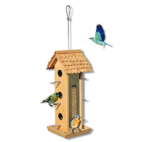 QINAIDI Meise-Vogelhäuschen für Hofgarten-Villa im Freien, Selbstfütterungsversorgung,