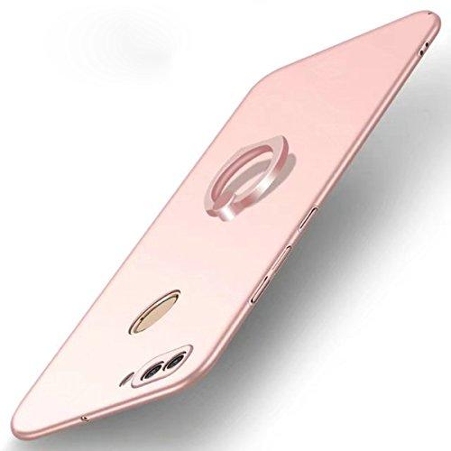Huawei P SMART Hülle, TIANQIN Ultra Leichte Schutzhülle Ultra dünnes PC Cover Harte Schale Anti-Scratch Stoßstange Einfache Stilvolle Abdeckung für Huawei P SMART - Rosé gold