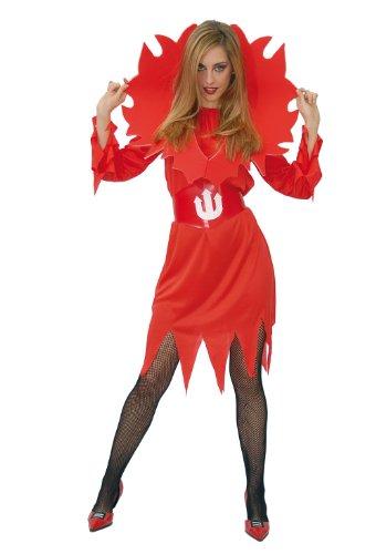 Guirca 80037 Costume da Diavolessa con Fiamme, Taglia Unica
