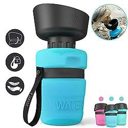 lesotc Dog Water Bottles, Dog Water Bottles Travel, Portable Dog Water Bottle, BPA Free 520ml