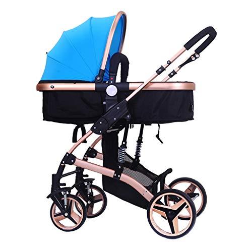 Passeggino bi-direzionale per Bambini 0-3 Anni Passeggino per Bambini Leggero Pieghevole   Sistema di Sicurezza a 5 Punti   Antiurto 8 Ruote   Sedile Regolabile   Grande Cesto portaoggetti